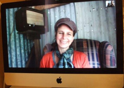 Live Skype link: Tara in radio hut to cupboard in SVA gallery