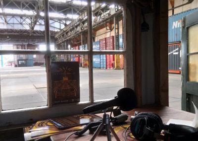 Radio hut in NDSM Loods