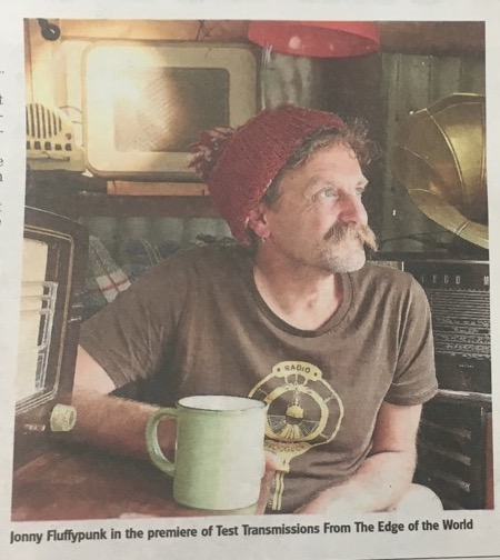 Stroud News and Journal Arts page: Jonny Fluffypunk in the Radio Hut