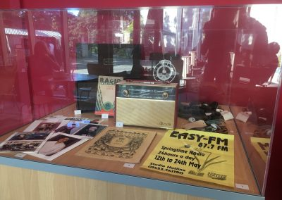 radio collections display cabinet at Museum in the Park