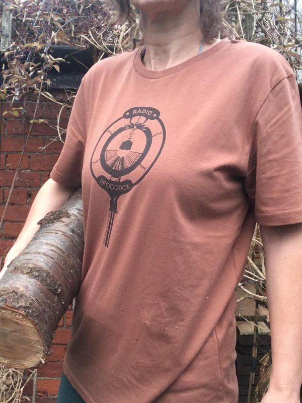 Brown on caramel women's tshirt