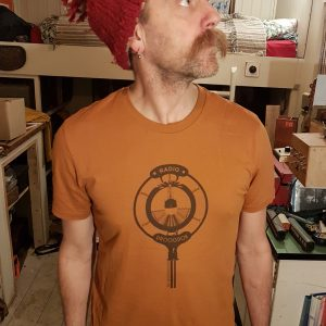 Brown Ink on Roasted Orange – Unisex T-Shirt