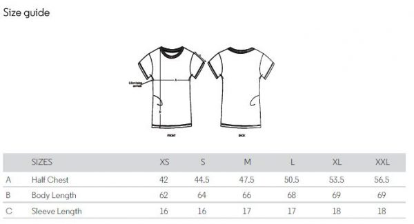 Women's fit t-shirt sizing